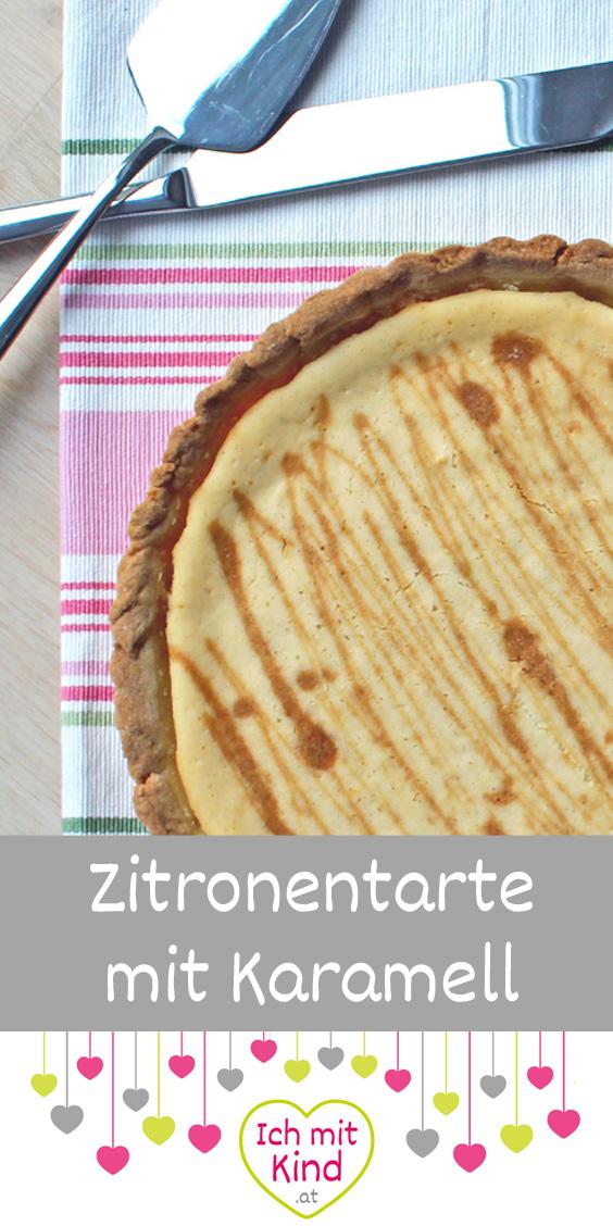 Zitronentarte mit Karamell