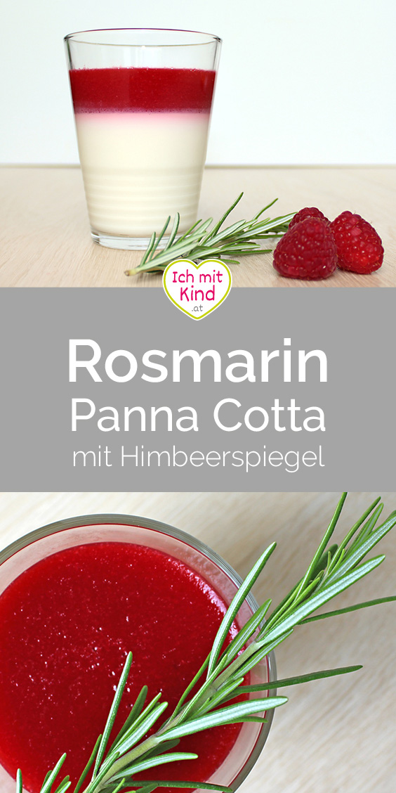 Rosmarin Panna Cotta mit Himbeerspiegel