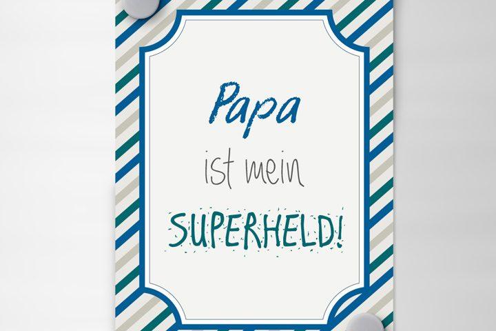 Vatertagskarte Zum Ausdrucken Ich Mit Kind