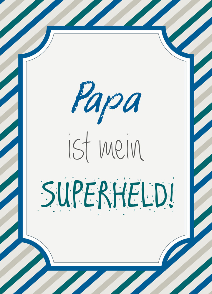 Vatertagskarte zum Ausdrucken - Ich mit Kind