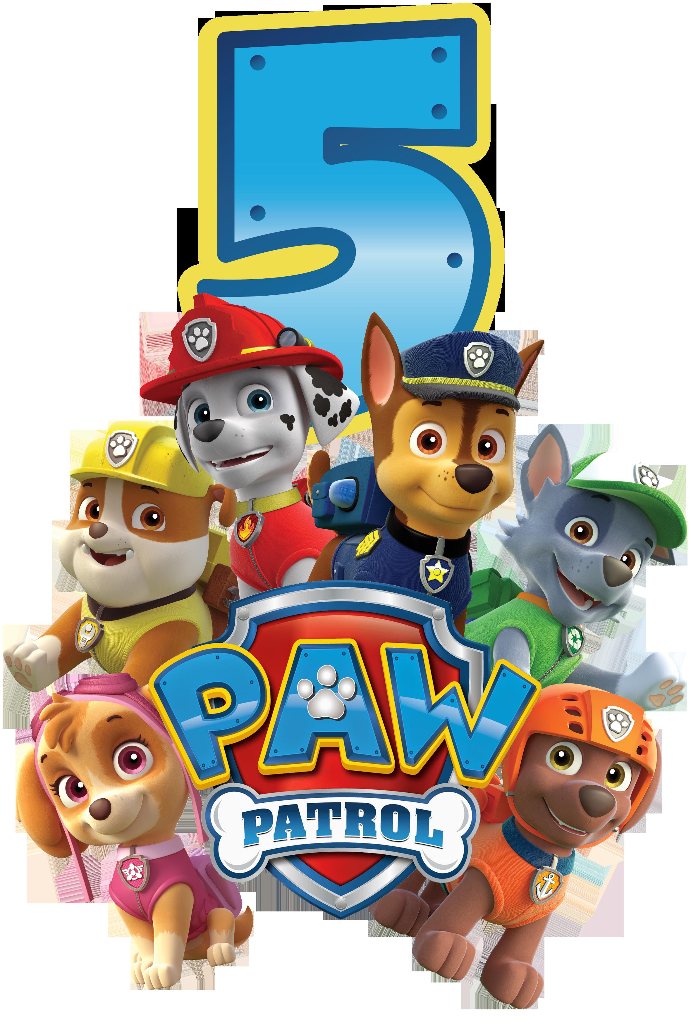 It S A Paw Ty Paw Patrol Geburtstagsshirt Und Buchstaben Ich Mit