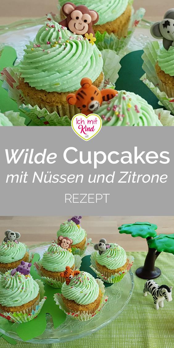 #rezept für Wilde Cupcakes mit Nüssen und Zitrone zum ersten Geburtstag