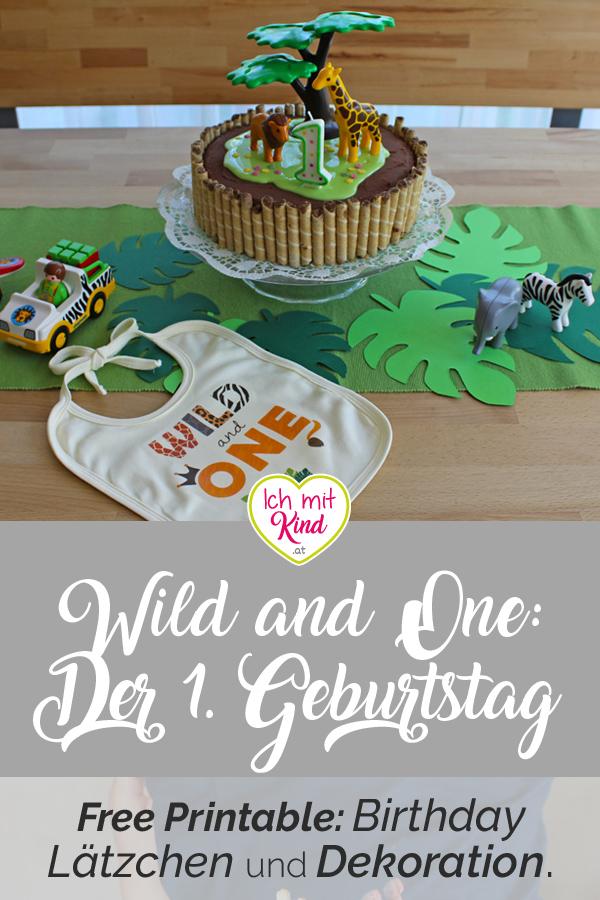 Wild and One - Der erste Geburtstag - Deko und Birthdayshirt im Dschungel Design