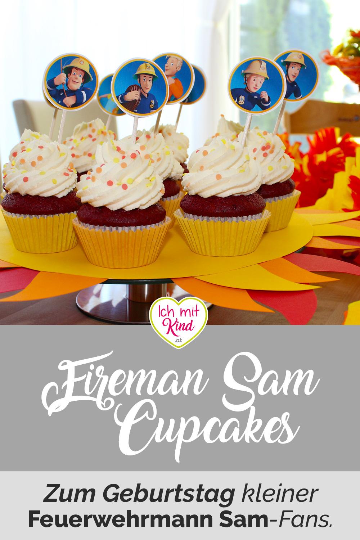 Rezept Feuerwehrmann Sam Red Velvet Cupcakes für die Feuerwehr Geburtstagsparty