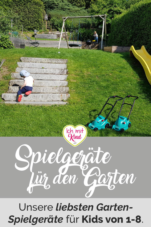 Die besten #Spielgeräte für den #Garten für #Kinder von 1 bis 8.